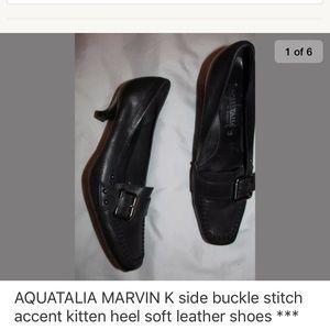 AQUATALIA side buckle kitten heel shoes 6.5
